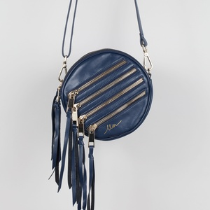 Roundshape-zipper-tassel-purse (Summer Navy)