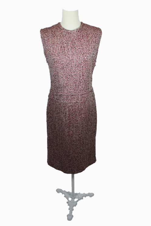 Red and White Tweed Dress