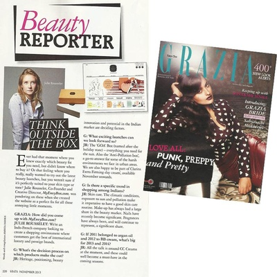 Think outside the box  Grazia