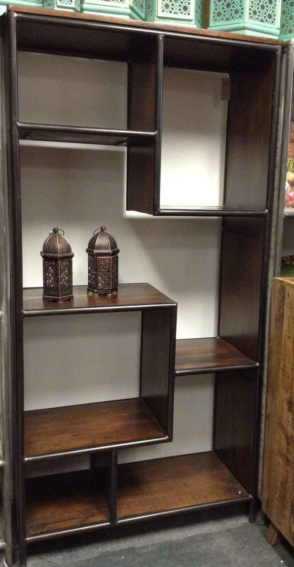 from display iron living wall com jewelry dhgate wood product wrought shelf bookcases panels room bookcase stock stores