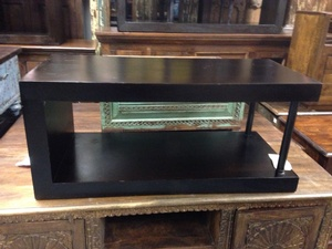REGULAR PRICE $640 - Tv Unit/Coffee Table- Dark Stain- 35.5w by 16d by 16h