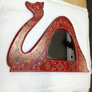 MORNINGSTAR - Mirror- Camel Frame- Painted and Embossed-26w by 13.5h