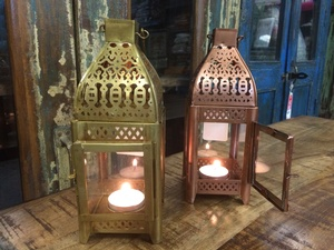 Regular Price $29.00 - Lantern-Copper or Gold Colour-9h by 3.5w