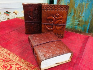 MORNINGSTAR - Leather and Embossed Notebook 4 by 5 inch size