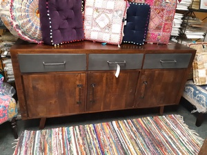MORNINGSTAR - Sideboard with Three Metal Drawers-71w by 18d by 36h