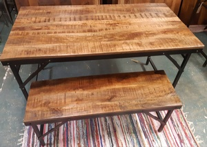 MORNINGSTAR - Dining Table-Condo Size With Folding Legs-54w by 27d by 30h