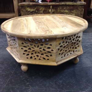 MORNINGSTAR - Coffee Table- Round Top with Octangle Shaped Sides.