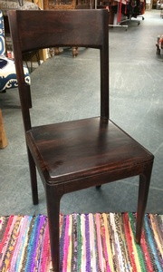 MORNINGSTAR - Dining Chair-Simple Design-Solid Mango Wood-Dark Colour