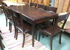 MORNINGSTAR - Dining Table-Tapered Legs-63w by 31.5d by 30h