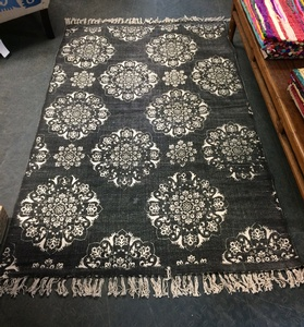 MORNINGSTAR - Rug-Floral Pattern-Charcoal Colour-4ft by 78in Size