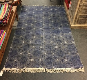 MORNINGSTAR - Rug-Geometric Pattern- 100% Cotton-4ft by 78in size