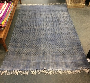 MORNINGSTAR - Rug-Diamond Pattern-Blue-4ft by 78in Size