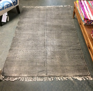 MORNINGSTAR - Rug-Very-Diamond Pattern-Very Faded Blue/Grey-4ft by 78in