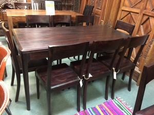 MORNINGSTAR - Dining Table- Rosewood- Tapered Legs-Dark Colour 63 w x 31 d x 30.5 h