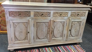 MORNINGSTAR - Sideboard-Carved-71w by 17d by 39h