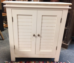 MORNINGSTAR - Cabinet-White-Solid Marble Top-26w by 12d by 29h