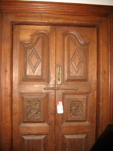 Regular Price $3800 - Carved Door-Teak-Diamond Carving-85h by 53w
