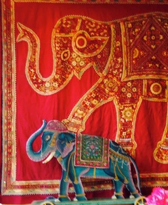 Regular $950 - Elephant Wall Hanging -Very Large- 102W by 84L