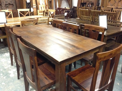 Dining Table- Rustic Style- 6' mango wood