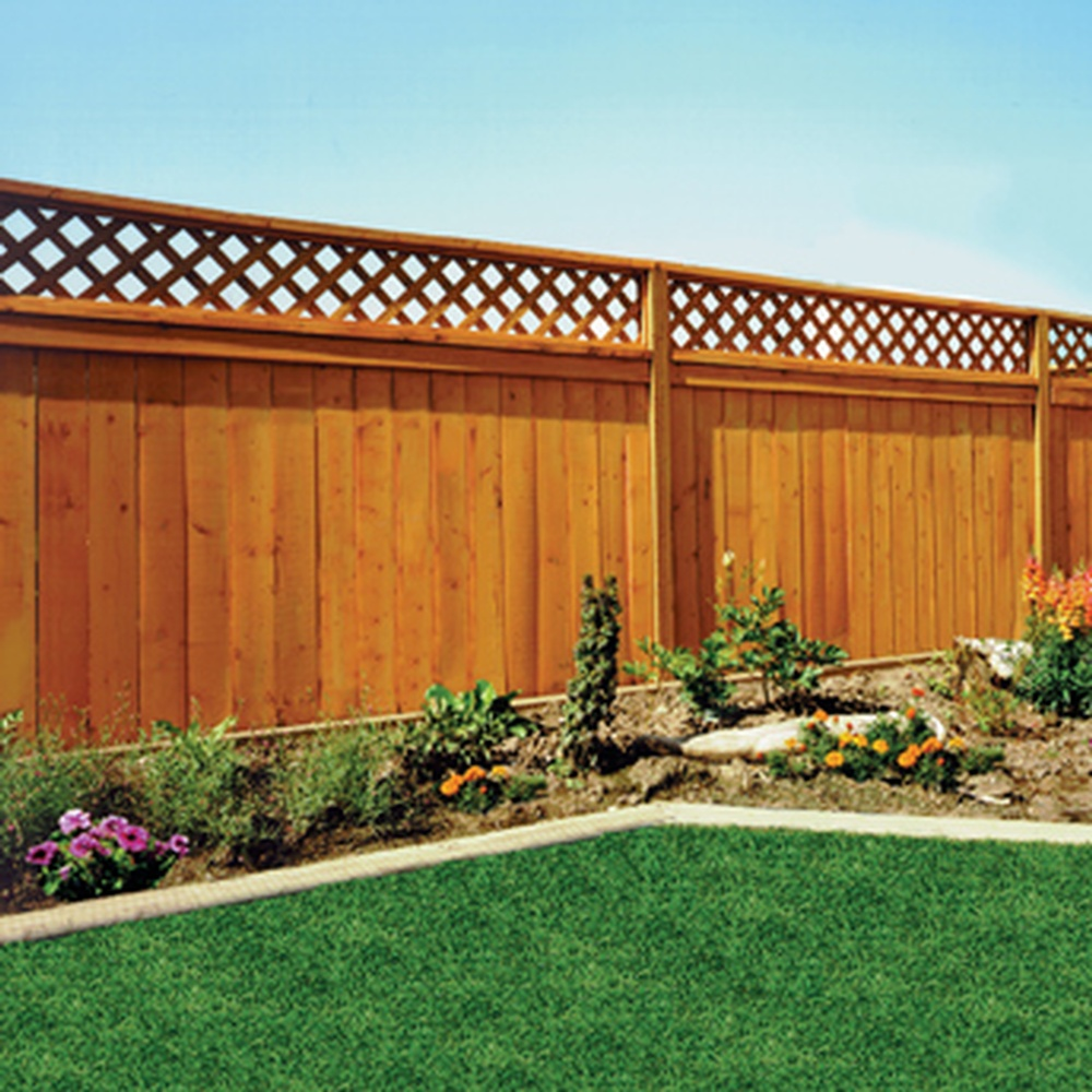 Bfd rona products diy fencing planning and installation - Clotures en bois pour jardin ...