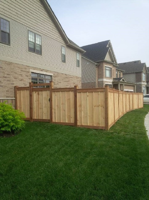 Micro Pro Wood Fence with Rough Sawn Pine