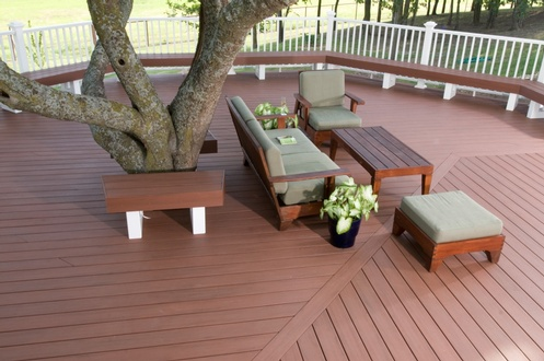 AZEK Deck Redland Rose PVC Decking
