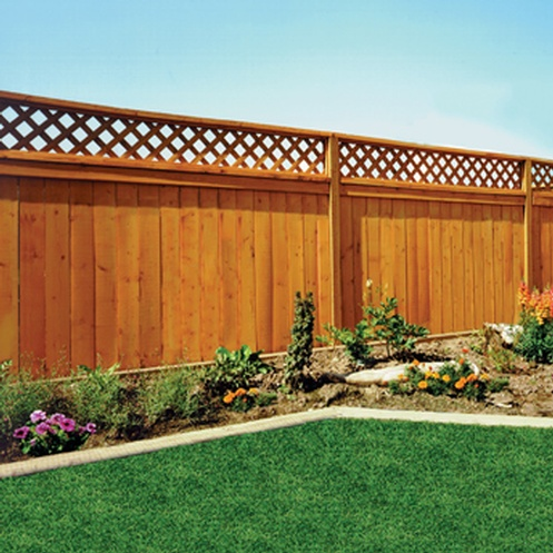 Fence-treated-wood-lattice-