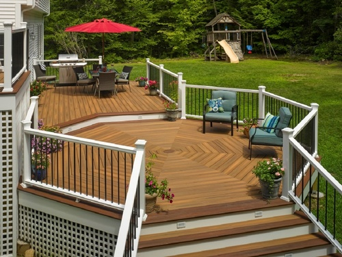 Bfd rona products photo gallery composite decks for Cedar decks pros and cons