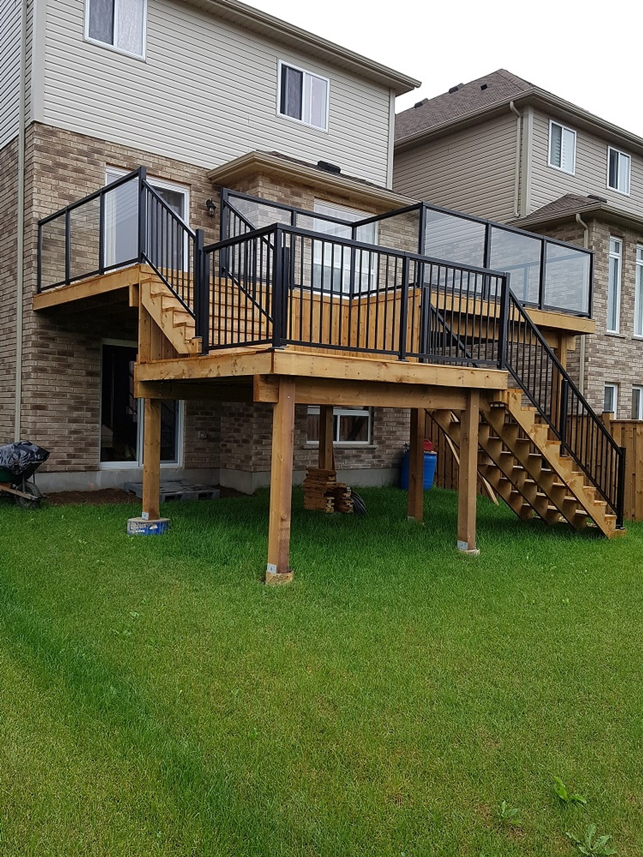 Bfd rona products photo gallery pressure treated wood and micropro wood deck and probuilt aluminum railing system pressure treated baanklon Image collections