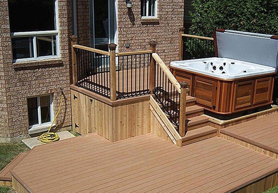 Bfd rona products photo gallery pressure treated for Brown treated deck boards